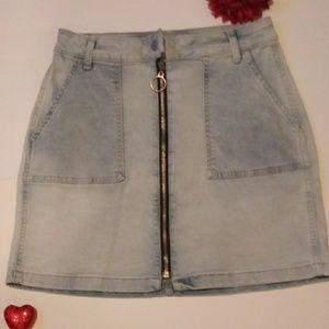 Arizona Womens Low Rise Short Denim Skirt-Junior